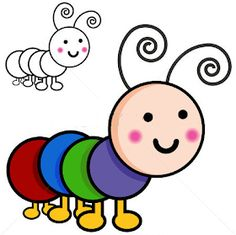 Illustration about An image of caterpillar cartoon bugs. Illustration of isolated, cartoon, drawing - 16471026 Girls Quilts, Baby Quilts, Cartoon Drawings, Animal Drawings, Ladybug Rocks, Caterpillar Craft, Fun Party Themes, Rock Painting Patterns, Cartoon Kids