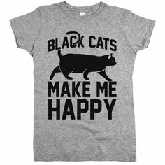 'Black Cats Make Me Happy'