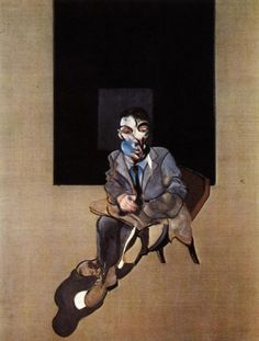 self-portrait , 1972 iii, olio di Francis Bacon (1909-1992, Ireland)