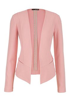 bfa32785e1 blazer with textured fabric in pink clay Roupas Para Gordinhas