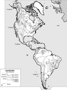 Grandes unidades estructurales de Amrica  Mapas  Pinterest