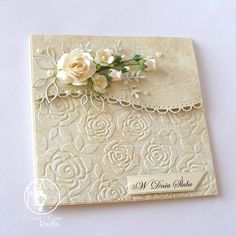 This is beautiful. I've had my eye on a rose embossing folder... and the wavy edge dies too .... mmmm for my next shopping spree.