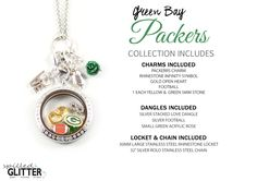 Green Bay Packers Floating Locket Charm Collection