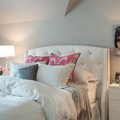 White Wingback Headboard