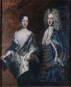 Princess Hedvig Sofia of Sweden (1681 - 1708) and her husband Frederik IV, Duke von Holstein-Gottorp (1671 - 1702). She was the sister of King Karl XII and Queen Ulrika Eleonora I of Sweden, cousin of the kings of Poland & Denmark.