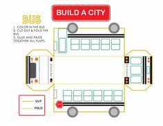 Worksheets: Build a City: School Bus