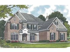 Traditional House Plan with 3196 Square Feet and 4 Bedrooms from Dream Home Source | House Plan Code DHSW65510