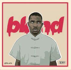 Frank Ocean Digital art, illustration, blonde