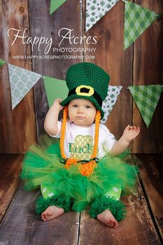 St Patricks Day tutu and shabby chic by alliballiboutique on Etsy, $34.95