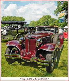 1931 Cord L-29 Cabriolet | Flickr - Photo Sharing! Vintage Cars, Antique Cars, Automobile Companies, Car Photos, Classic Cars, Auburn, Vehicles, Hollywood, Usa