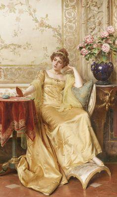 """Meditation"" by Charles Joseph Frédéric Soulacroix (1825-1900)."