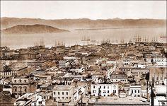 Oalkand Wharf as seen from Nob Hill, San Francisco, 1875.