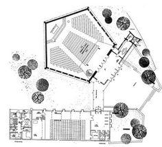 Planetarium Architecture, Auditorium Architecture, Theatre Architecture, University Architecture, Religious Architecture, Architecture Plan, Auditorium Plan, Auditorium Design, Concept Models Architecture