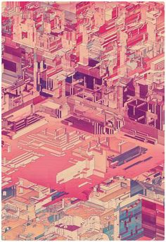 Atelier Olschinsky is a small creative studio based in Vienna, Austria featuring the duo of Peter Olschinsky and Verena Weiss. Magazine Illustration, City Illustration, Graphic Design Illustration, Future City, Creative Studio, Pixel City, Axonometric Drawing, Ghost In The Machine, Graphic Projects