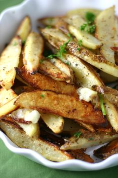 White Truffle Oil & Parmesan Oven Fries- the guy mentioned white truffle fries when I bought the oil!