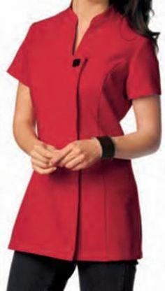 Tunica Ref 337 Beauty Therapist Uniform, Beauty Uniforms, Spa Uniform, Scrubs Outfit, Kurti Neck Designs, Indian Designer Wear, Dress Codes, Clothes Hanger, New Fashion