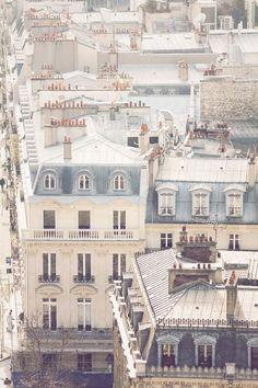 "audreylovesparis: "" Paris rooftops """