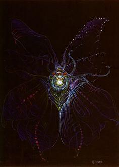 Sci-Fi Art: Moebius concept art for the alien in The Abyss Jean Giraud, Moebius Art, Arte Alien, 70s Sci Fi Art, Alien Design, James Cameron, Chef D Oeuvre, Creature Design, Fantasy Creatures