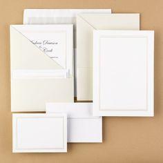 Posh Pockets DIY Wedding Invitation Kits (cream)
