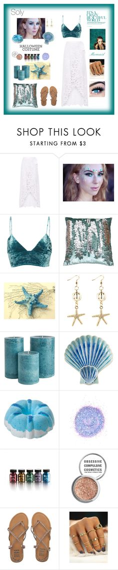"""Soly: mermaid"" by solyslstore ❤ liked on Polyvore featuring Miguelina, Fleur du Mal, Thro, Juliska, The Gypsy Shrine, Obsessive Compulsive Cosmetics, Billabong, Whiteley and MINX"