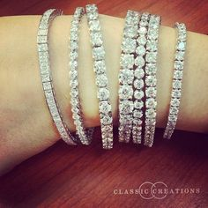 Diamond Tennis Bracelets available in different sizes and styles