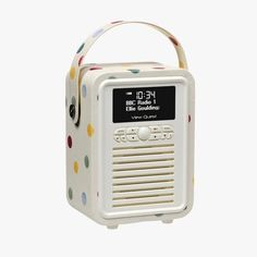 Polka Dot Mini Bluetooth Retro Radio