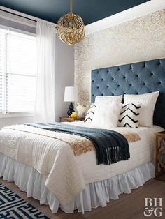 The Anatomy Of A Well Made Bed White Furniture Inspirationfurniture Ideasblue Master Bedroomblue