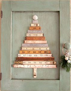 Vintage Folding Ruler Christmas Tree