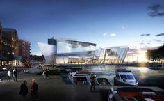 Myefski Architects   The Bodo Kommune Waterfront, Mixed-Use, Exterior Rendering, Bodo, Norway. #myefski, #modernarchitecture, #designcompetition