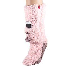 Minx Slipper Socks Ladies Super Fluffy Socks with Iphone Pocket