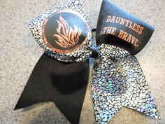 Divergent Dauntless The Brave Cheer Bow by BowsByAutumn on Etsy, $9.75