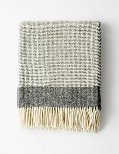 Mended Tweed Blanket - Charcoal Grey $241 S&D