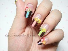 Fruits & chocolate nailart  click through for tutorial (in my korean blog)