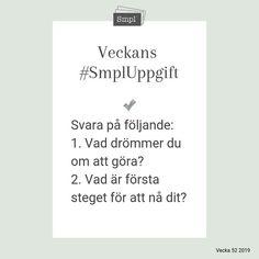 @smplsweden posted to Instagram: Veckans #SmplUppgift.   #Smpl #Organiseradenkelhet #SmplUppgift #Ordningochreda #Rensa #skapaordning #hus #hushåll #hem #Hållbarvardag #enkelhet #förvaring #hälsa #ordninghemma #drömma #uppleva