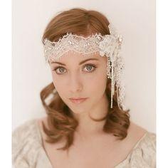 1920s Era Deco  Beaded Bridal Headband 751 by EricaElizabethDesign, $285.00