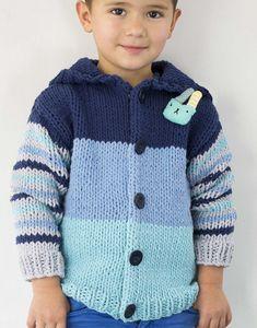 Modèle gilet rayé enfant facile à tricoter