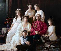 La familia del zar Nicolás II de Rusia, 1914
