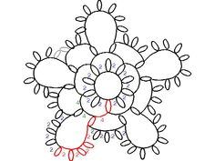 Tatted Flower 3rounds pattern