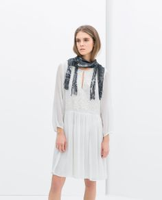 ZARA - NEW THIS WEEK - EMBROIDERED DRESS