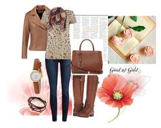 """""""Good as Gold"""" by sally-morin ❤ liked on Polyvore featuring Sandro, Oui, Naturalizer, Fendi, Kate Spade, women's clothing, women, female, woman and misses"""