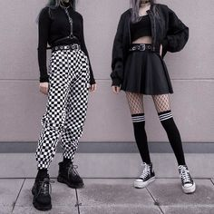 Adrette Outfits, Neue Outfits, Gothic Outfits, Teen Fashion Outfits, Retro Outfits, Cute Casual Outfits, Grunge Outfits, Punk Rock Outfits, Flannel Outfits
