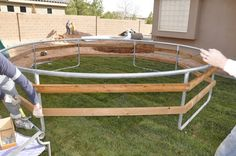 All Things Thrifty Home Accessories and Decor: DIY Inground Trampoline Instructions