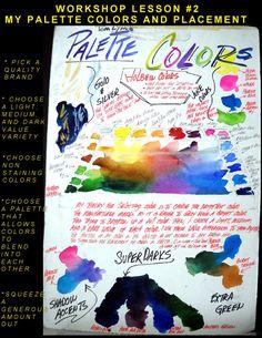 Tom Lynch Watercolor Workshop - Palette Colors