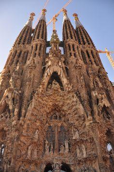La Sagrada Familia - Barcelona, Spain. Breathtaking and, well, gawdy. No pun intended.