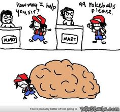 Where does Ash carry all of his Pokeballs?