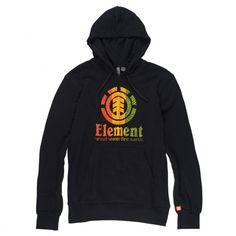 Element Woven sweat à capuche black rasta