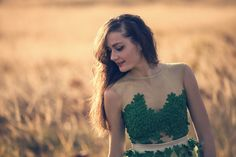 Pretty green floral bodice by Atelier De Couture JK on Etsy
