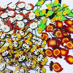 Mini Toppers de acrílico - festa junina