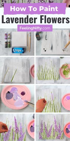 Easy Flower Painting, Canvas Painting Tutorials, Simple Canvas Paintings, Easy Canvas Art, Acrylic Painting Flowers, Small Canvas Art, Easy Canvas Painting, Easy Paintings, Rock Painting