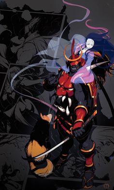 Bishamon, from Darkstalkers ~ Vampire Savior, by Tong-Sik Jung